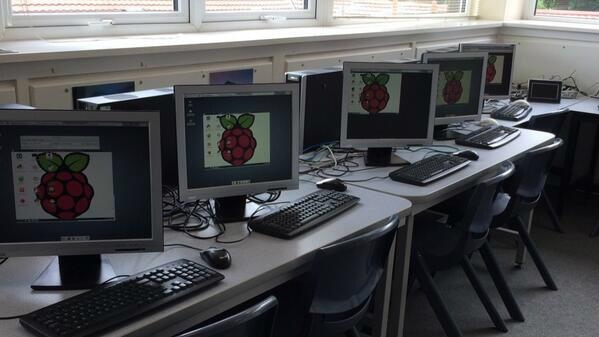 Each student remote controlled their own pi