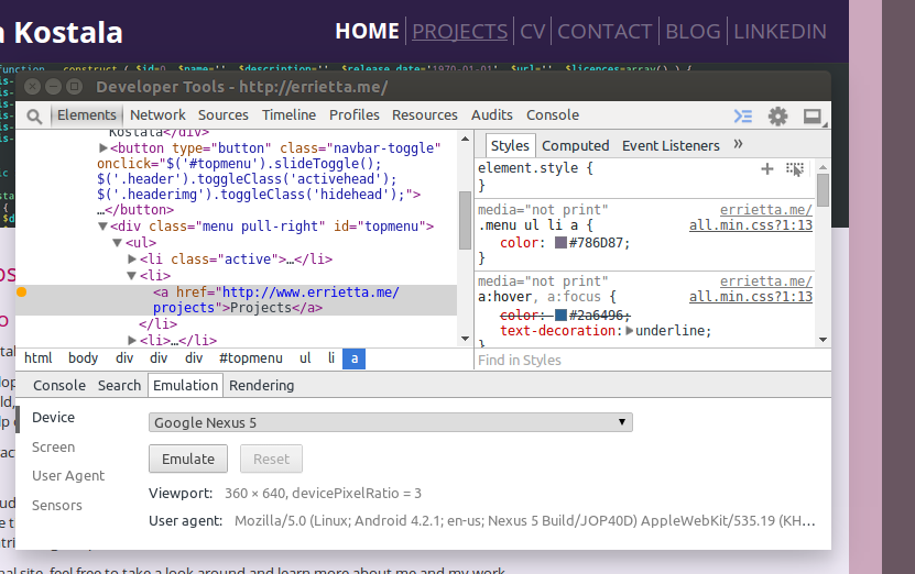 Hover preview - Chrome