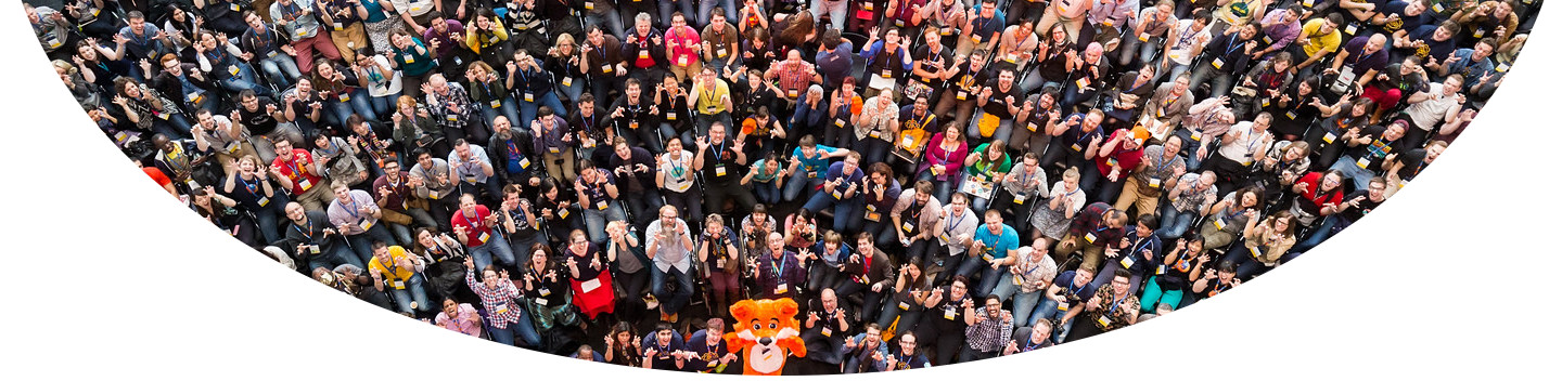 A picture from Mozilla Festival 2014. All participants are in a circle.